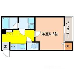 Gradito神崎川(グラディート)[1階]の間取り