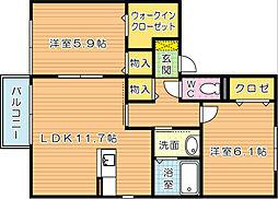 フローラ吉祥寺[2階]の間取り