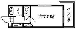 ロジュマン海塚1[302号室]の間取り