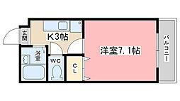 エクセレント山田[103号室]の間取り