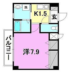 アクス-21[402 号室号室]の間取り