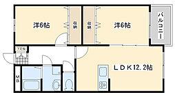 Blanc Bonheur Kokura[405号室]の間取り