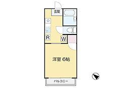 東京都世田谷区野毛2丁目の賃貸アパートの間取り