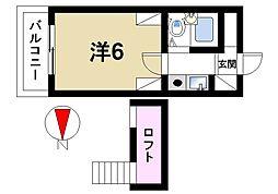 奈良県奈良市西大寺北町1丁目の賃貸マンションの間取り