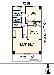 クレアール城並[1階]の間取り