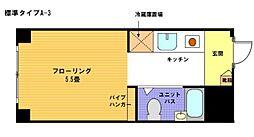 ヴェール横浜[3階]の間取り