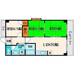 メゾン・ド・ソレイユ[6階]の間取り