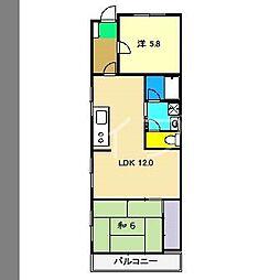 メゾンヤマサキ[3階]の間取り