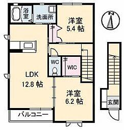 ブランドールT A棟[2階]の間取り