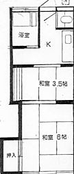 松城荘 bt[208kk号室]の間取り