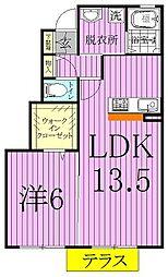 千葉県柏市手賀の杜5の賃貸アパートの間取り
