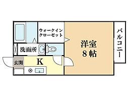 ウィン京田辺[2階]の間取り