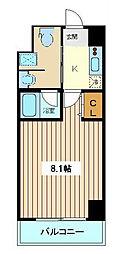 仙台市地下鉄東西線 川内駅 徒歩17分の賃貸マンション 5階1Kの間取り
