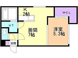 KOULA(コウラ) 3階1LDKの間取り