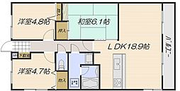 カーサ古江[2階]の間取り
