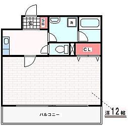 神戸市西神・山手線 伊川谷駅 徒歩3分の賃貸マンション 5階1Kの間取り
