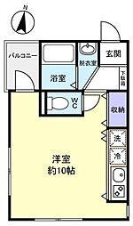 PARK VIEW 勝田台[2階]の間取り
