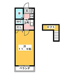 ユートピア・K[1階]の間取り
