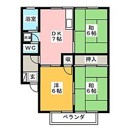 アベニューII[2階]の間取り