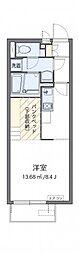 小田急小田原線 本厚木駅 バス17分 睦合東中学校入口下車 徒歩4分の賃貸アパート 1階ワンルームの間取り