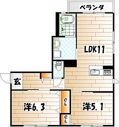 シンフォニーガーデン[2階]の間取り