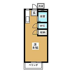 AXIV I[2階]の間取り