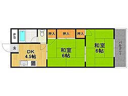 甲子園グリーンハイツ[5階]の間取り