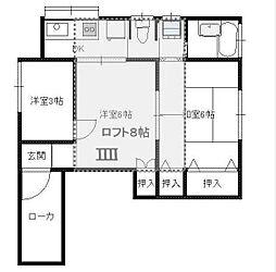 コリンカシワバ[203号室]の間取り