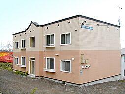 北海道小樽市桂岡町の賃貸アパートの外観