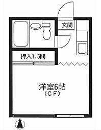 小日向アパートメント[2階]の間取り
