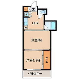シャングリラ高松[5階]の間取り