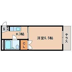 静岡県静岡市駿河区大谷の賃貸マンションの間取り