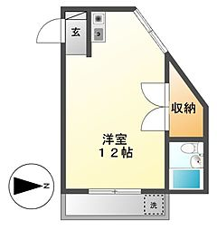ラフォーレ矢田No.2[3階]の間取り