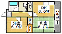 アールマンション堺[1階]の間取り