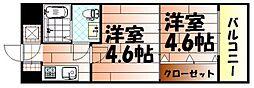 No.47 PROJECT2100小倉駅[8階]の間取り