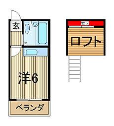 メゾンドパルクII[1階]の間取り