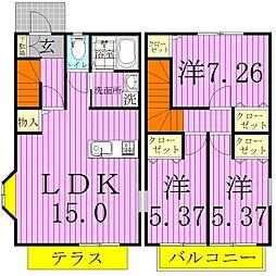 [一戸建] 千葉県松戸市秋山 の賃貸【千葉県 / 松戸市】の間取り