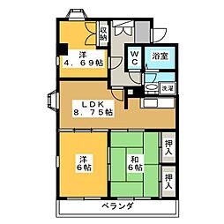 丸子ハイツ[2階]の間取り