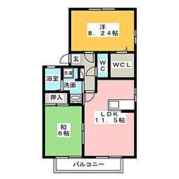 ライムガーデン B棟[1階]の間取り