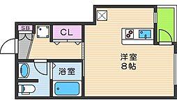 大阪府大阪市東住吉区駒川5丁目の賃貸マンションの間取り