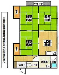 コーポ円[2階]の間取り