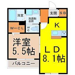愛知県名古屋市千種区千種2丁目の賃貸マンションの間取り