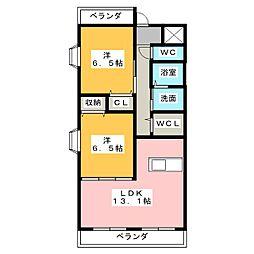桜聚苑[2階]の間取り