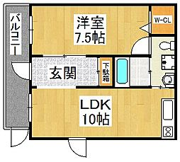 ブランカ堺東[7階]の間取り