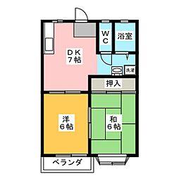 ASK佐藤B[1階]の間取り