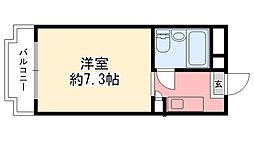 兵庫県西宮市鳴尾町1丁目の賃貸マンションの間取り