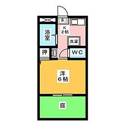 ジュネス社ヶ丘[1階]の間取り