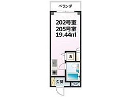 秋山菅マンション[2階]の間取り