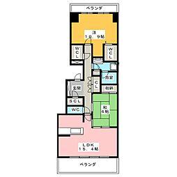 シティハウス八事紅葉園[14階]の間取り