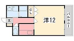 坪田ビル[304号室]の間取り